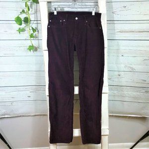 Men's Levi's Purple Wine Corduroy Pants 32""